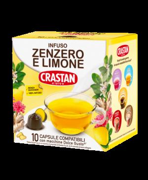 capsule infuso zenzero limone compatibili dolce gusto crastan