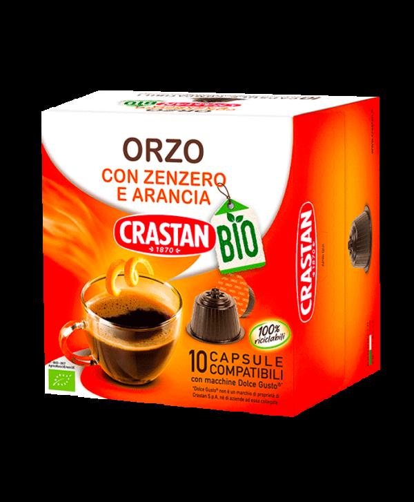 capsule orzo zenzero e arancia bio dolce gusto crastan