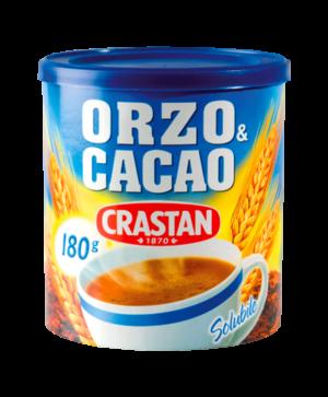 orzo e cacao solubile crastan